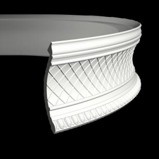 Карниз потолочный гибкий 1.50.138 Европласт