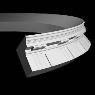 Карниз потолочный гибкий 1.50.151 Европласт