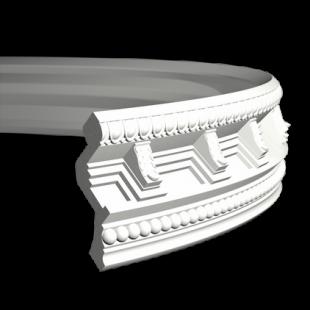 Карниз потолочный гибкий 1.50.169 Европласт