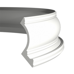 Карниз потолочный гибкий 1.50.209 Европласт